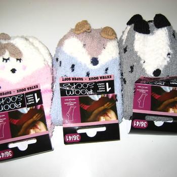 chaussettes anti-dérapente animal - 3 modèles différents