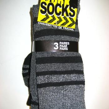chaussettes de travail : 3 pour 3.60€