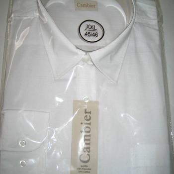 chemise longues manches blanche pour homme - pinces dans le dos