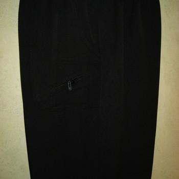 pantalon taille élastique classique zip pour dame - noir 3 - 7 - 8