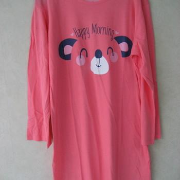 liquette lm coton jersey pour dame - ours - reste M et L