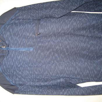 pull 1/2 tirette coton pour homme - chiné marine EN PROMO