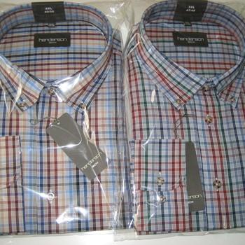 chemises longues manches pour homme - grandes tailles - henderson - petits carreaux colorés