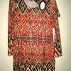 robe pour dame avec châle - losanges 2 coloris - T38 à 44