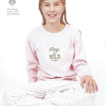pyjama velours rasé pour fille de 8 à 16 ans - coeur rose ou turquoise
