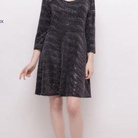 robe noire avec paillettes pour dame - jusque taille 52 EN PROMO