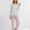 pyjama coton jersey pour dame - ambree - bleu - reste XXL - 3XL - 4XL