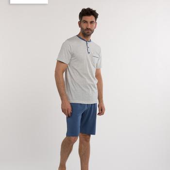 pyjashort coton pour homme - 3 boutons - barry