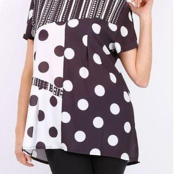 blouse noir/blanc pour dame 42/44
