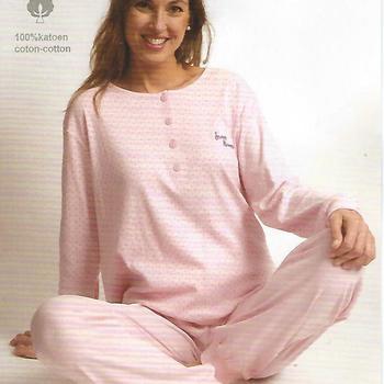 pyjama coton lourd pour dame - pois