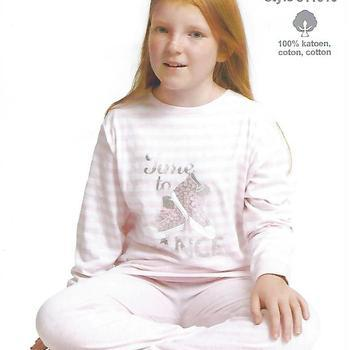 pyjama coton jersey pour fille - time by dance - rose 12 ans 16 ans