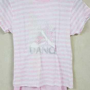 pyjashort coton jersey pour fille - time by dance rose 10 ans 14 ans