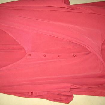 blouse unie viscose croisée pour dame EN PROMO - framboise