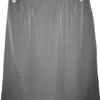 jupe droite classique avec taille élastique pour dame - 50/52 - 54/56 - bleu jeans