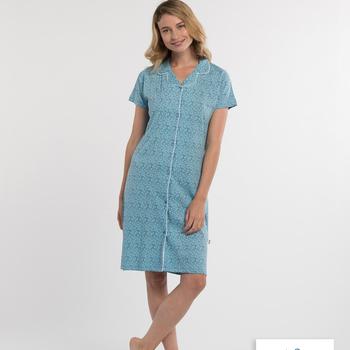 liquette courtes manches coton boutonné pour dame - inez - jusque 3XL