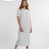 robe de nuit courtes manches coton amy-lee en 2 coloris - grandes tailles