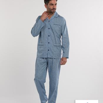 pyjama boutonné polyester-coton (tergal) pour homme - jusque taille 64