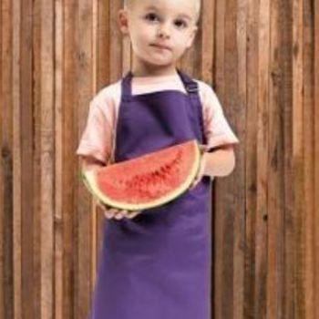 tablier barbecue pour enfant en rouge ou fuschia