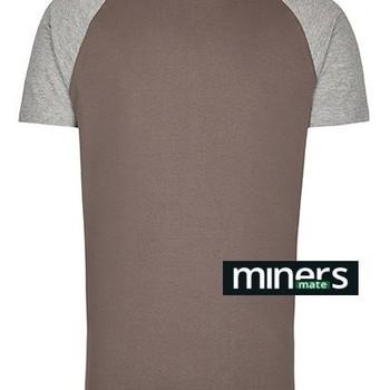t-shirt courtes manches bicolore gris S