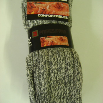 chaussettes avec laine norvégienne pour homme : 3 paires pour 9.30€