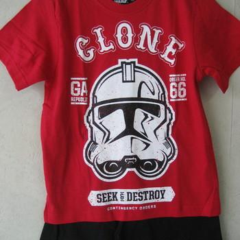 t-shirt + short star wars en coton pour les garçons de 5 à 10 ans - 2 coloris