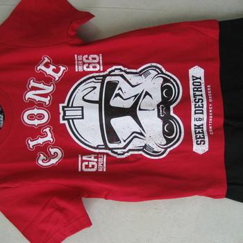 t-shirt + short star wars en coton pour les garçons - rouge 8ans