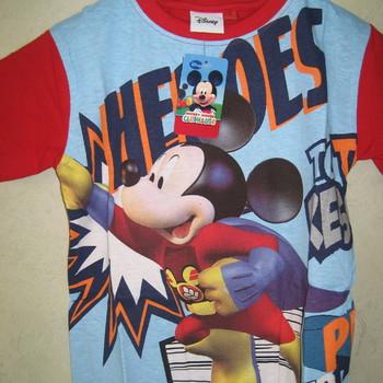 t-shirt mickey en coton pour enfant de 4 à 8 ans