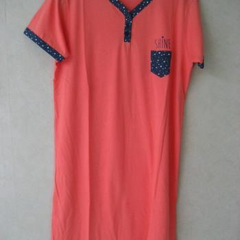 liquette courtes manches coton pour dame biais marine - reste M & L
