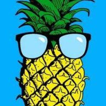 essuie de plage velours imprimé 76*152cm - ananas