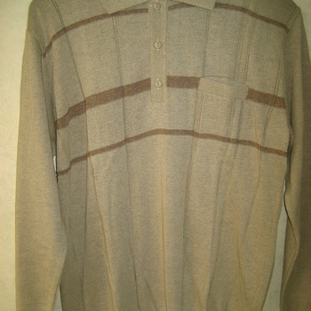 pull polo léger pour homme - beige