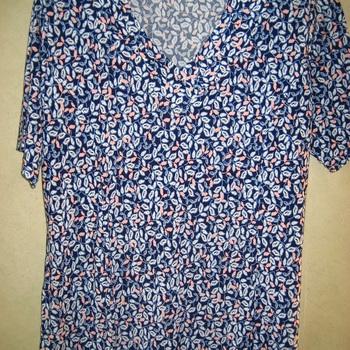 blouse courtes manches fluide imprimée pour dame - grande taille
