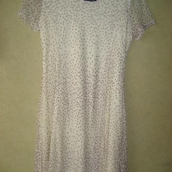 robe courtes manches avec voilage pour dame - 50/52 - blanche