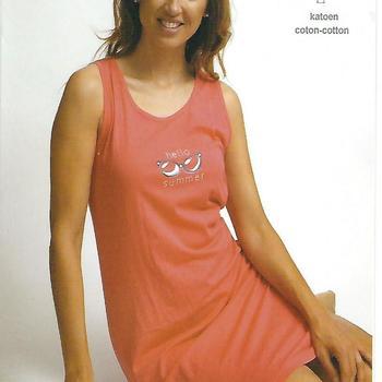 nuisette coton larges bretelles pour dame - hello summer - 2 coloris - M - L - XXL