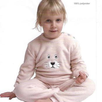 pyjama polaire fluffy (tout doux) pour les 2 à 6 ans en 2 coloris