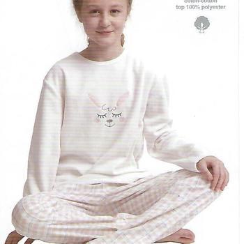 pyjama polaire pantalon flanelle lapin en 2 coloris pour fille de 8 à 16ans
