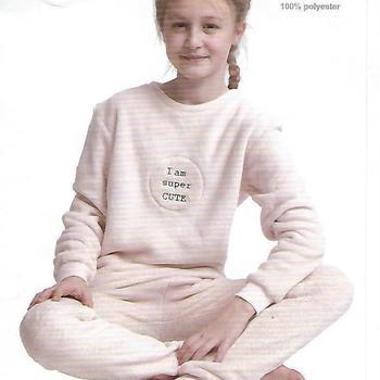 pyjama polaire fluffy (tout doux) pour fille de 8 à 16 ans - panthère en 2 coloris