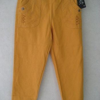 jeans taille élastique avec broderie sur poche - ocre EN PROMO 4 - 5