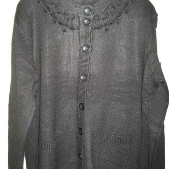gilet boutonné avec poches pour dame en différents coloris -tricot doux