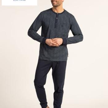pyjama hiver pour homme - grandes tailles - avec 3 boutons