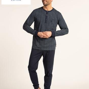 pyjama coton jersey pour homme - hans - avec 3 boutons - reste 3XL