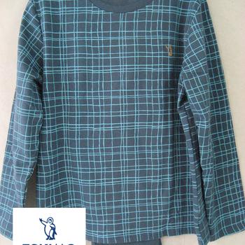 pyjama molletonné pour homme - carreaux - William - reste M & XXL