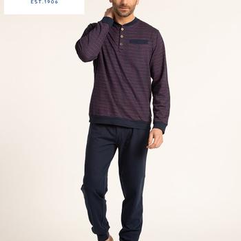 pyjama molletonné pour homme - gus - 3 boutons - reste 3XL