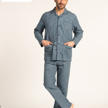 pyjama boutonné flanelle pour homme - sebastian - 2 coloris - existe jusque taille 64