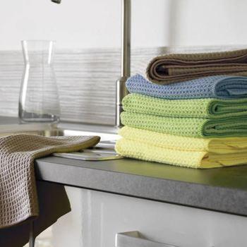 lavettes microfibre gaufrées 40*50 : noir - jaune - rouge - beige