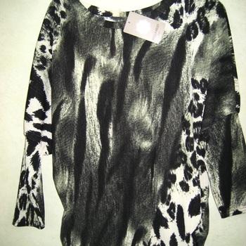 blouse fluide peau pour dame manches chauve-souris
