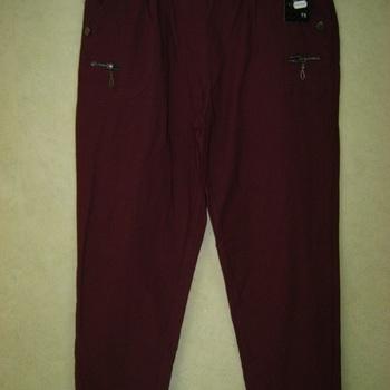 pantalon xstrech pour dame avec taille élastique - aussi de grandes tailles - bordeau