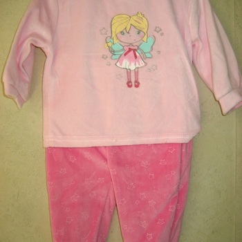pyjama velours rasé 2 pièces bébé - princesse jusque 24 mois