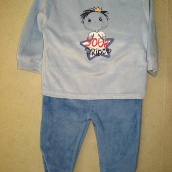 pyjama velours rasé 2 pièces bébé - prince jusque 24 mois