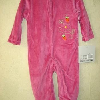 pyjama velours rasé fille bébé - fraises