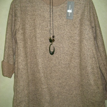 pull tricot mohair avec collier hameçon pour dame - en différents coloris